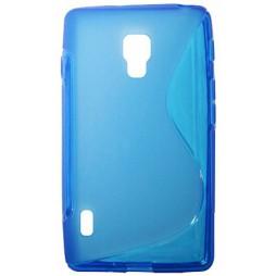 LG Optimus L7 II - Gumiran ovitek (TPU) - modro-prosojen SLine