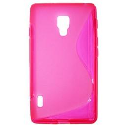 LG Optimus L7 II - Gumiran ovitek (TPU) - roza-prosojen SLine