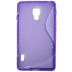 LG Optimus L7 II - Gumiran ovitek (TPU) - vijolično-prosojen SLine