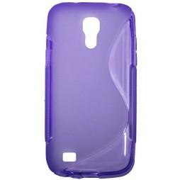 Samsung Galaxy S4 Mini - Gumiran ovitek (TPU) - vijolično-prosojen SLine