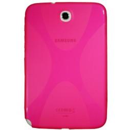 Samsung Galaxy Note 8.0 (N5100) - Gumiran ovitek (TPU) - roza-prosojen SLine