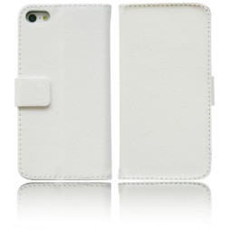 Apple iPhone 5/5S/SE - Preklopna torbica (WL) - bela