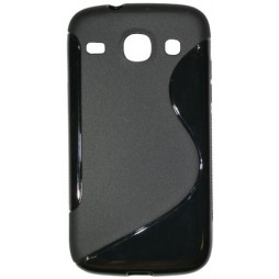 Samsung Galaxy Core - Gumiran ovitek (TPU) - črn SLine