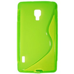 LG Optimus L7 II - Gumiran ovitek (TPU) - zeleno-prosojen SLine