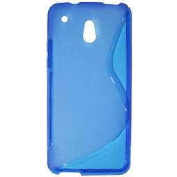 HTC One mini - Gumiran ovitek (TPU) - modro-prosojen Sline