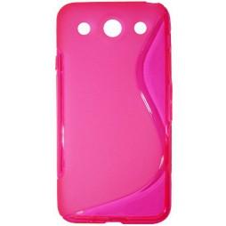 LG Optimus G Pro - Gumiran ovitek (TPU) - roza-prosojen SLine
