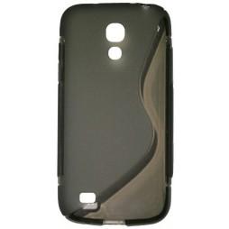 Samsung Galaxy S4 Mini - Gumiran ovitek (TPU) - sivo-prosojen SLine