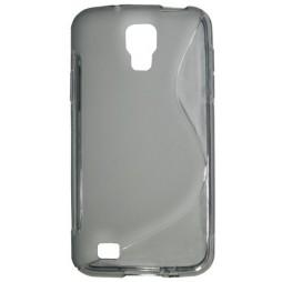 Samsung Galaxy S4 Active - Gumiran ovitek (TPU) - sivo-prosojen SLine