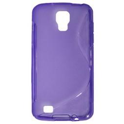 Samsung Galaxy S4 Active - Gumiran ovitek (TPU) - vijolično-prosojen SLine