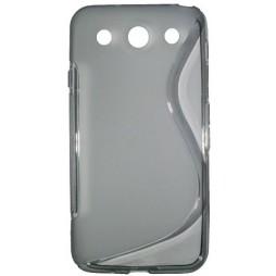 LG Optimus G Pro - Gumiran ovitek (TPU) - sivo-prosojen SLine