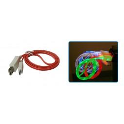 MicroUSB - Rdeč z lučko