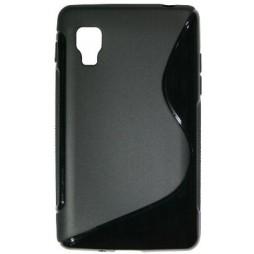 LG Optimus L4 II - Gumiran ovitek (TPU) - črn SLine