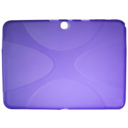 Samsung Galaxy Tab 3 10.1 (P5200) - Gumiran ovitek (TPU) - vijolično-prosojen XLine