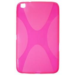 Samsung Galaxy Tab 3 8.0 (T311/T315) - Gumiran ovitek (TPU) - roza-prosojen XLine