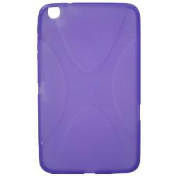 Samsung Galaxy Tab 3 8.0 (T311/T315) - Gumiran ovitek (TPU) - vijolično-prosojen XLine