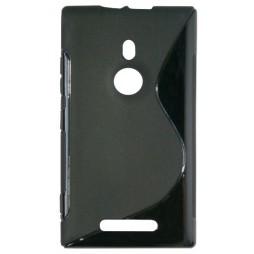 Nokia Lumia 925 - Gumiran ovitek (TPU) - črn SLine