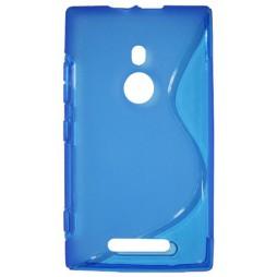 Nokia Lumia 925 - Gumiran ovitek (TPU) - modro-prosojen SLine