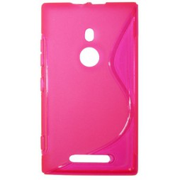 Nokia Lumia 925 - Gumiran ovitek (TPU) - roza-prosojen SLine