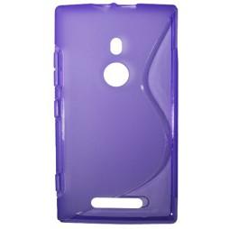 Nokia Lumia 925 - Gumiran ovitek (TPU) - vijolično-prosojen SLine