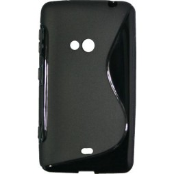 Nokia Lumia 625 - Gumiran ovitek (TPU) - črn SLine