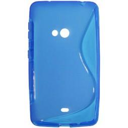 Nokia Lumia 625 - Gumiran ovitek (TPU) - modro-prosojen SLine