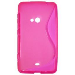 Nokia Lumia 625 - Gumiran ovitek (TPU) - roza-prosojen SLine