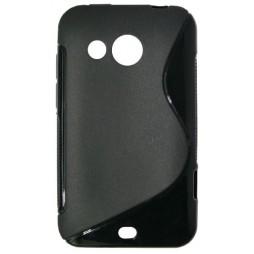 HTC Desire 200 - Gumiran ovitek (TPU) - črn SLine