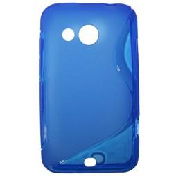 HTC Desire 200 - Gumiran ovitek (TPU) - modro-prosojen SLine