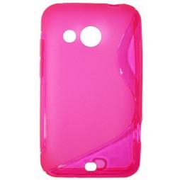 HTC Desire 200 - Gumiran ovitek (TPU) - roza-prosojen SLine