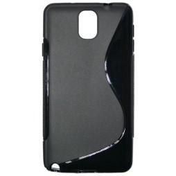 Samsung Galaxy Note 3 - Gumiran ovitek (TPU) - črn SLine