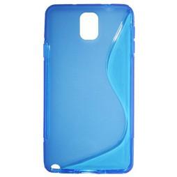 Samsung Galaxy Note 3 - Gumiran ovitek (TPU) - modro-prosojen SLine