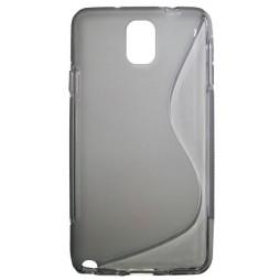 Samsung Galaxy Note 3 - Gumiran ovitek (TPU) - sivo-prosojen SLine