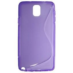 Samsung Galaxy Note 3 - Gumiran ovitek (TPU) - vijolično-prosojen SLine