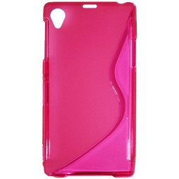 Sony Xperia Z1 - Gumiran ovitek (TPU) - roza-prosojen SLine