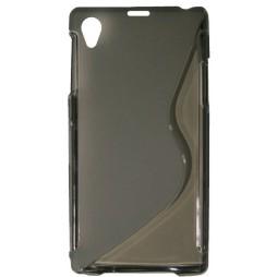 Sony Xperia Z1 - Gumiran ovitek (TPU) - sivo-prosojen SLine