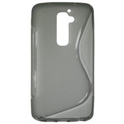LG G2 - Gumiran ovitek (TPU) - sivo-prosojen SLine