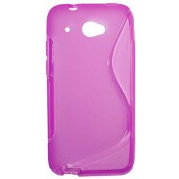 HTC Desire 601 - Gumiran ovitek (TPU) - roza-prosojen SLine