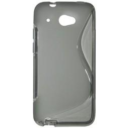 HTC Desire 601 - Gumiran ovitek (TPU) - sivo-prosojen SLine