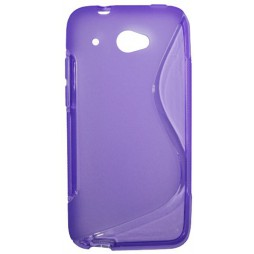 HTC Desire 601 - Gumiran ovitek (TPU) - vijolično-prosojen SLine