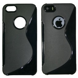 Apple iPhone 5/5S/SE - Gumiran ovitek (TPU) - črn SLine