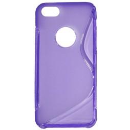 Apple iPhone 5/5S/SE - Gumiran ovitek (TPU) - vijolično-prosojen SLine