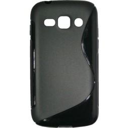 Samsung Galaxy Ace 3 - Gumiran ovitek (TPU) - črn SLine