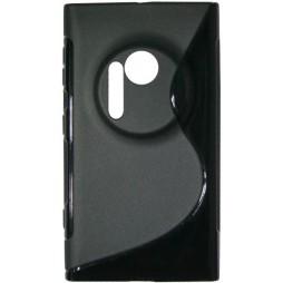 Nokia Lumia 1020 - Gumiran ovitek (TPU) - črn SLine