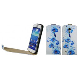 Samsung Galaxy S4 Mini - Preklopna torbica (40) - Blue flowers