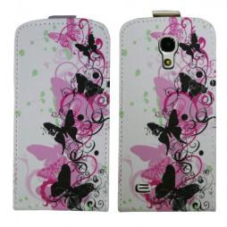Samsung Galaxy S4 Mini - Preklopna torbica (40) - Pink&black butterfly