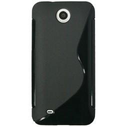 HTC Desire 300 - Gumiran ovitek (TPU) - črn SLine