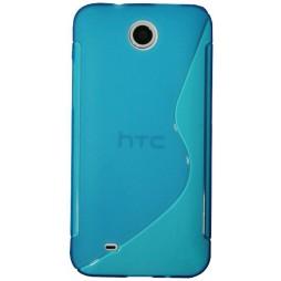 HTC Desire 300 - Gumiran ovitek (TPU) - modro-prosojen SLine