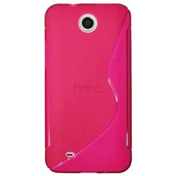 HTC Desire 300 - Gumiran ovitek (TPU) - roza-prosojen SLine