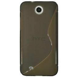 HTC Desire 300 - Gumiran ovitek (TPU) - sivo-prosojen SLine