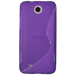 HTC Desire 300 - Gumiran ovitek (TPU) - vijolično-prosojen SLine